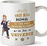 KJKL Psicologo Cup-Miglior Psicologo dell'universo-Divertimento Psicologia Regali/Regali-tè/caffè Tazza in Ceramica 11 Once