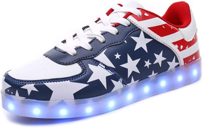 Ghost Dance shoes USB Charging LED Light shoes Men's Ladies Casual shoes (color   G, Size   38EU)