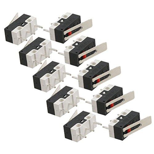 ROSENICE 10 Pezzi Mini Interruttore a Levetta SPDT Micro Interruttore Leva Lunga