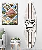 HXA DECO – Tabla de surf para decoración de pared, impresión de motivos de California sobre aluminio dibond, 145 x 40 cm, papel,...