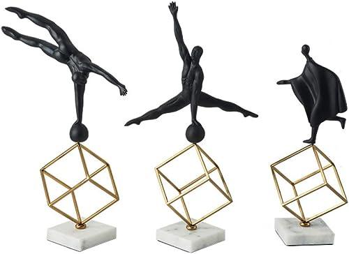 100% a estrenar con calidad original. MJK Decoración de Figuras de de de Gimnasia, Joyas de Resina, Adornos de Metal Geométricos de Oficina de la Sala de Estar  Todo en alta calidad y bajo precio.