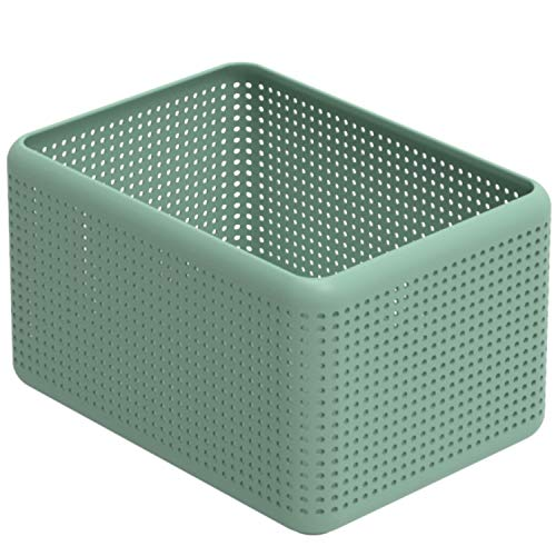Rotho Madei Aufbewahrungskiste 13l, Kunststoff (PP recycelt) BPA-frei, grün, 13l (32,6 x 23,8 x 18,8 cm)