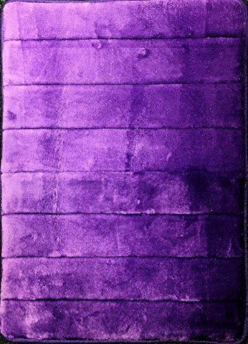 Purple Memory Foam Mat - For Kitchen or Bath - Incredibly Soft Absorbent Bathroom Rug Sets - Non-Slip and 17 x 24 inches