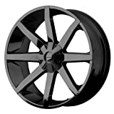 xd wheels 22 - KMC Wheels KM651 Slide Gloss Black Wheel With Clearcoat (22x9.5