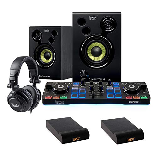 Best Price! Hercules DJ Starter Kit with (2) IP-S Isolation Pad (Small, Single) Bundle