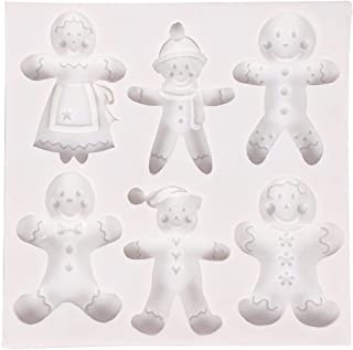 Lnrueg Home Party Festival Baking Chocolate Mold Silicone Gingerbread Funny Soft Nonstick Cute Holiday Mold Cake Mold for ...