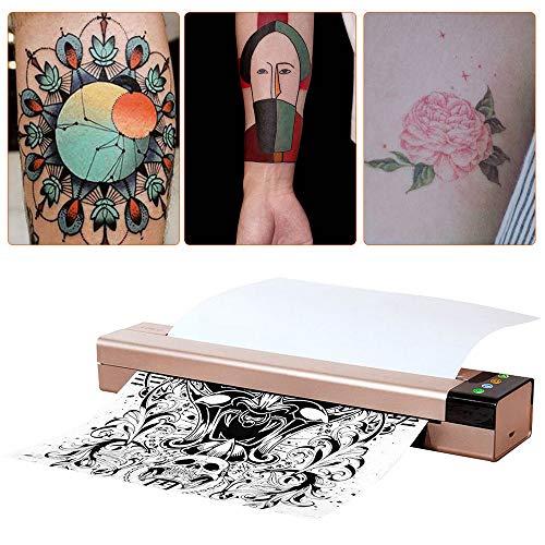 KKmoon Tattoo-transfermachine voor tattoo, stencil transfermachine Printer Drawing Thermo Stencil Maker Kopieerapparaat voor Tattoo Transfer Paper Supply Silver Bijwerken versie