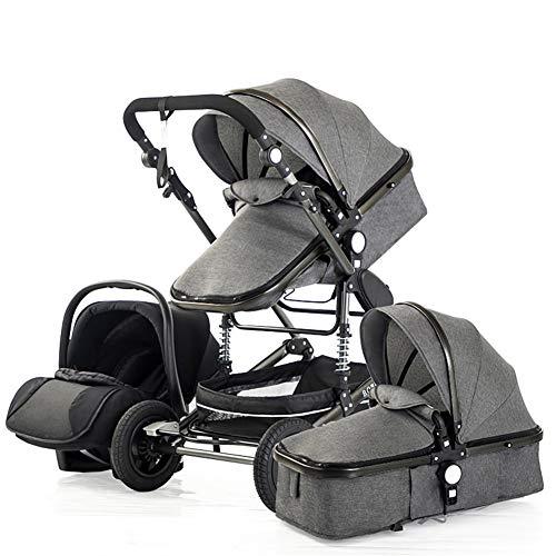 Metermall NIEUW 3 in 1 multifunctionele 4 ronde schokbestendige opvouwbare kinderwagen voor pasgeborenen