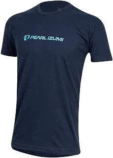 Pearl iZUMi Men's Graphic Cycling T-Shirt, Static Logo Midnight Navy, Medium
