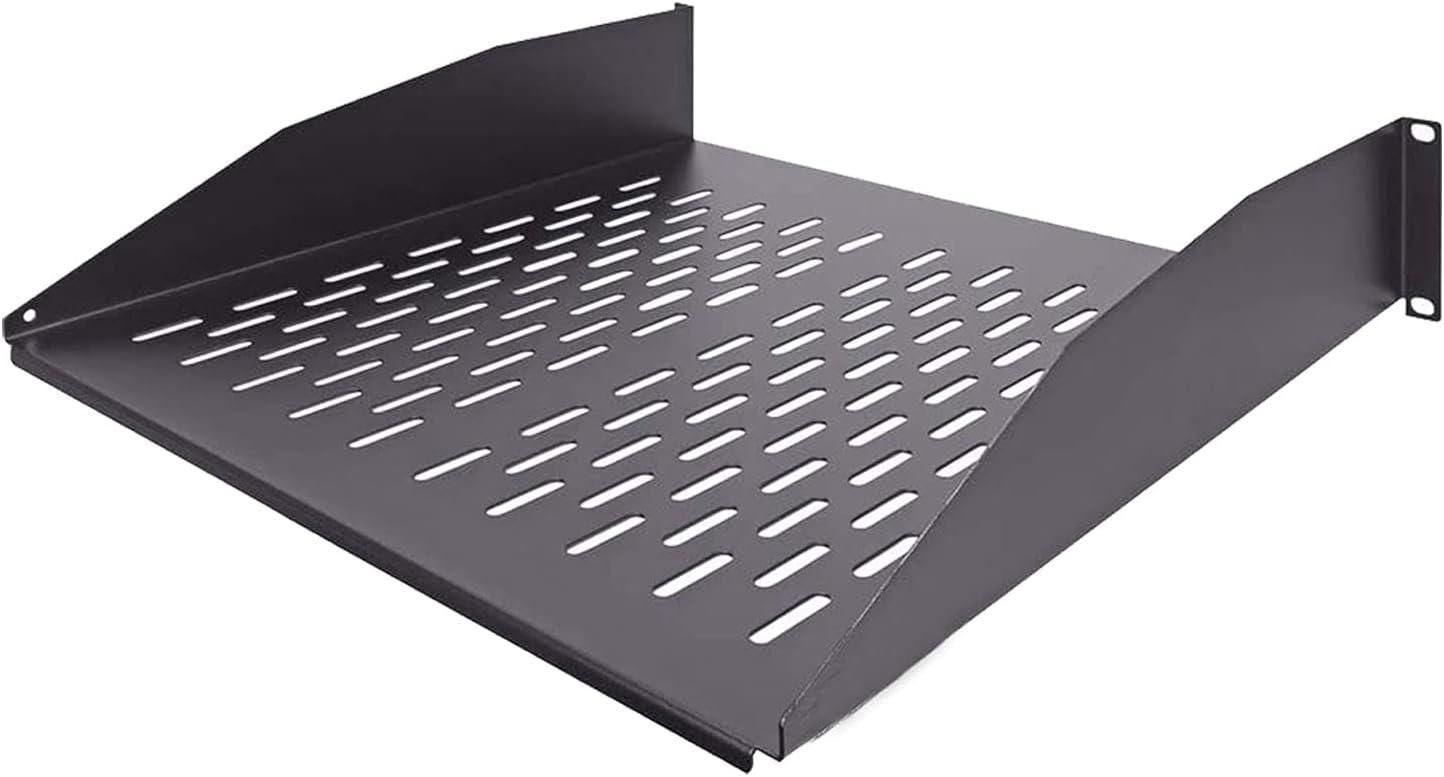 FerruNetDark Black 2U 19-inch Cantilever Fixed Server Cabinet Rack, ApplytoSmall Office, Home Office.