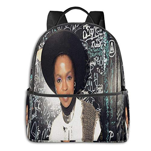 Lsjuee Lauryn Hill University School Large Capacity Backpack Computer Bag Unisex Suitable for Hiking Various Outdoor Sports
