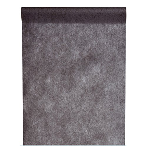 Vlies-Stoff 30cm (25m lang) Tischläufer Deko-Vlies Party Hochzeits-Dekoration (schwarz)