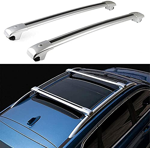 2 Piezas Coche Aluminio Bacas Travesaño para Mercedes...