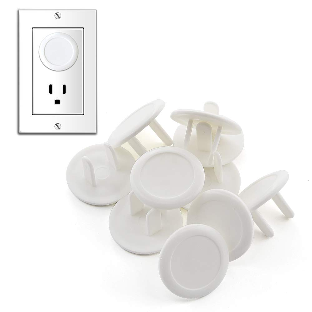 Outlet Covers Baby Proofing Baby Safety Socket Plugs Secure Electric Outlet Protectors White 50 Pack