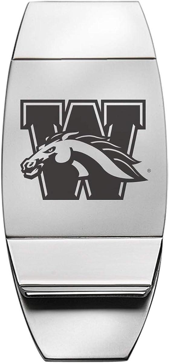 Stainless Steel Money Clip - Western Michigan Broncos