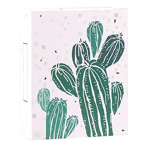 Yuan Ou Álbum de Fotos 100 Bolsillos 6 Pulgadas Almacenamiento Scrapbooking Imagen Caso Cactus Álbum De Fotos 18x14x5cm F