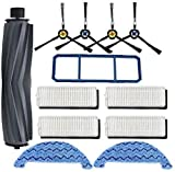 Accesorios de limpieza de filtro de cepillo lateral de repuesto para Ecovacs Deebot N79 N79S Conga Excellence 990 Aspiradora de repuesto (Negro)