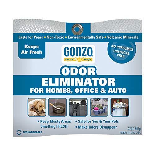 Gonzo Odor Eliminating Rocks - 32 oz - Pet Cigarette Smoke Paint Garbage Odor Eliminator For Car Home Gym Bag Basement Locker Room