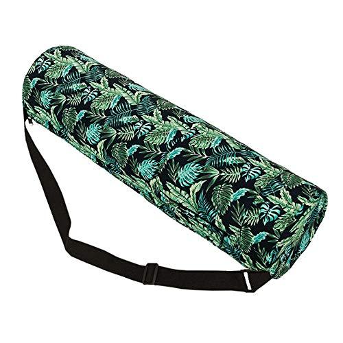 Fauge Estera de Yoga Deportiva con Cremallera Bolso de Mano con Bolsas de Almacenamiento Multifuncionales Verde