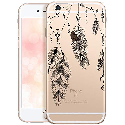 OOH!COLOR Collection 2020 Carcasa para Móvil Compatible con iPhone 6S, Funda iPhone 6 Silicona Dibujos Transparente Suave Bumper Teléfono Caso para iPhone 6, 6S Primavera