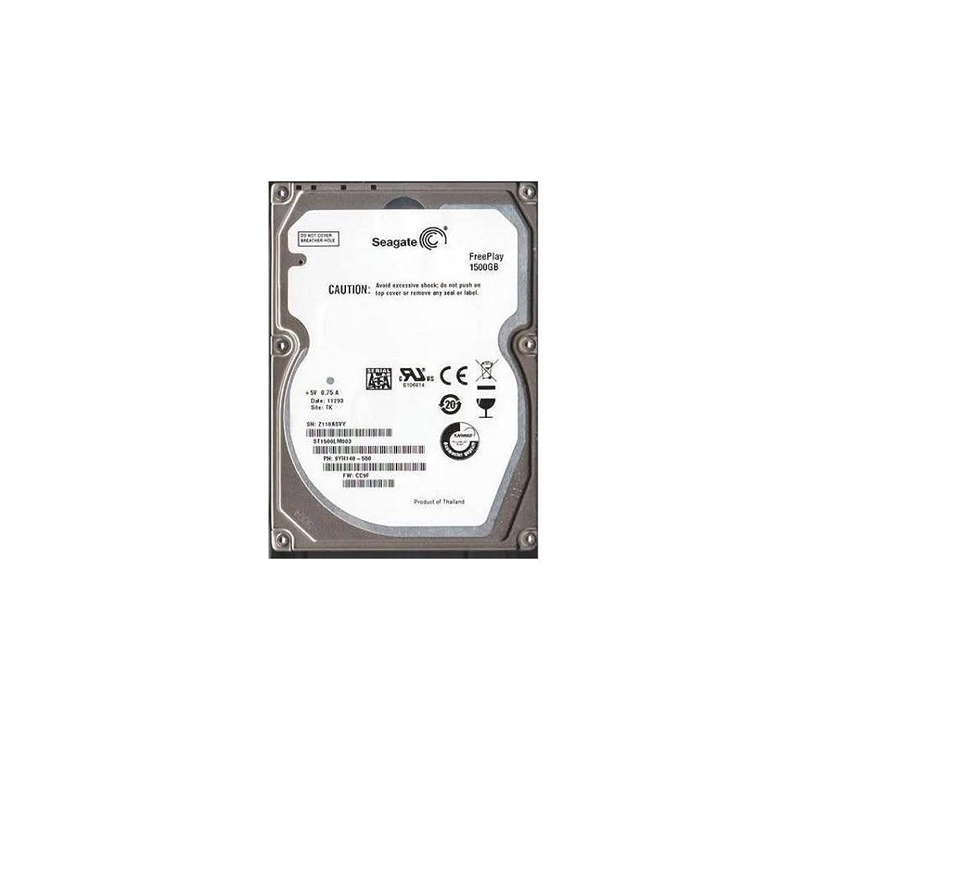 旅行者盗難強打Seagate 1.5TB SATA Freeplay 2.5 5400RPM 内蔵ハードドライブ ST1500LM003