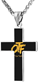 YouZiKu Religion Key Chain Cross Necklace OTF Crucifix