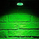 Auraglow LED Bombilla de luz de foco estrecho de color GU10 - VERDE