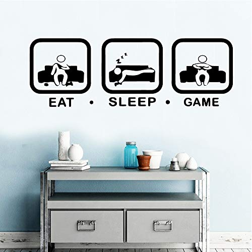 Yaonuli Eat Sleep Game muurkunst sticker muursticker decoratie woonkamer slaapkamer waterdichte muurkunst sticker