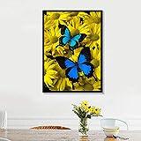 ganlanshu Pintura sin Marco Azul nórdico Insecto Natural Colorido Floral...