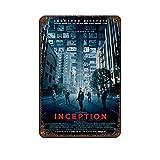The Film Inception 5 Retro-Poster, Metall-Blechschild,