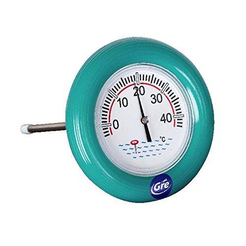 Gre 40054 Thermomètre bouée Bleu, 16 x 16 x 32 cm