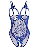 UMIPUBO Conjuntos de Lencería Mujer Ropa Interior Ropa de Dormir Encaje Atractivo Babydol Bodysuit Halter Pijamas...