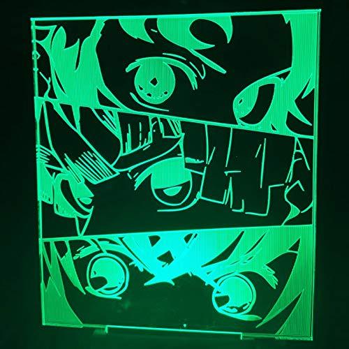 Anime Demon Slayer Face 3d lamp Acrylic Led Night Light for Kids Child Bedroom Decor Cool Nightlight Kimetsu No Yaiba Lamp Gift
