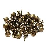 Sharplace Set de 100 Piezas Antique Tachuelas Tapicería Uñas Decoración Muebles Alfileres Perno Prisionero Nuevo Bronce, 7x10 mm