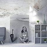 JRLDMD Marilyn Monroe Poster Wall Art Canvas Decoración del hogar Pinturas Personaje HD Impreso Office Room Decoración Imágenes 50x70cmx1 Sin Marco