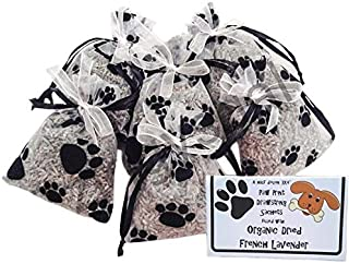Zziggysgal French Lavender Filled Paw Print Sachets in a Beautiful Keepsake Box - 6 Pack