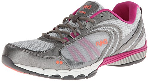 RYKA Women's Flextra Training Shoe,Chrome Silver/Metallic Steel Grey/Bougainvillea/Electric Coral,5.5 M US