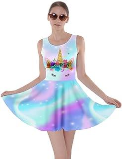 15130c4de449 CowCow Womens Fun Outfit Unicorn Fancy Party Castle Princess Party Skater  Dress, XS-5XL