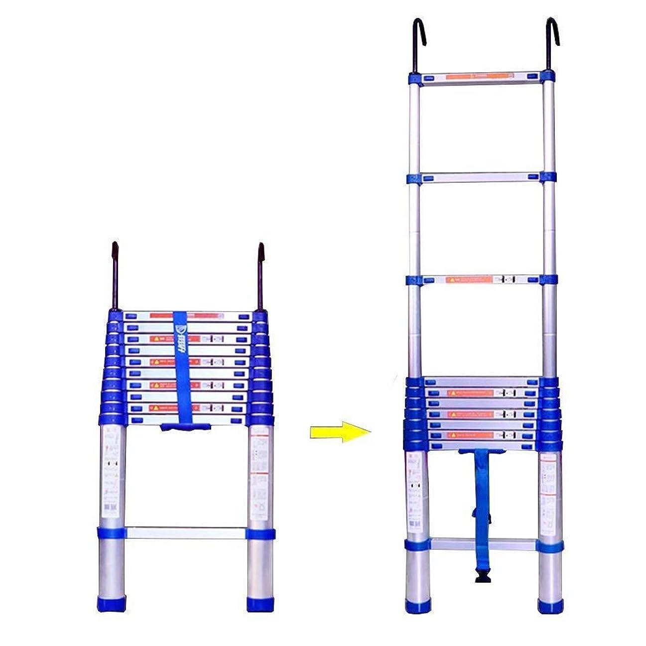 上がる醜い争う伸縮式はしごアルミニウム延長フック付きポータブルポータブルDIY折りたたみロフトオフィスエンジニアリング家庭用ストレート,5.25m(17.2ft)