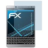 atFolix Schutzfolie kompatibel mit BlackBerry Passport Silver Edition Folie, ultraklare FX Bildschirmschutzfolie (3X)