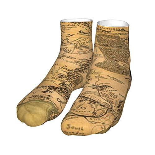 Chaussettes Socquette Carte du Seigneur des Anneaux Chaussette Stocking 30CM