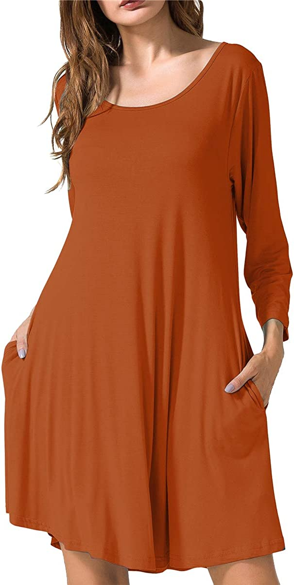 JollieLovin Women's Casual Swing 3 Loos Pockets Sleeve T-Shirt Large-scale sale Max 84% OFF 4