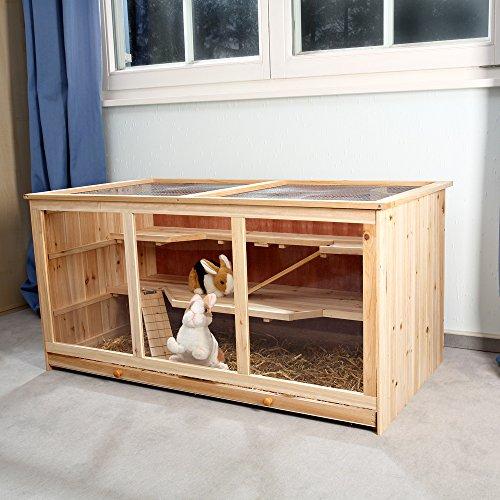 Nagerkäfig Villa Hamsterkäfig Mäusekäfig Kleintierkäfig Käfig Rattenkäfig Holz - 2