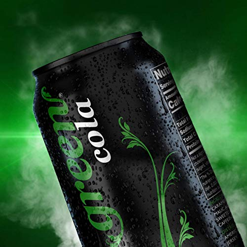 Green Cola - Zero Sugar, Zero Calories, Naturally Sweetened with 100% Stevia Leaf Extract, Carbonated Soda, 100% Cola Taste, 12 Fl Oz each can - Pack of 8