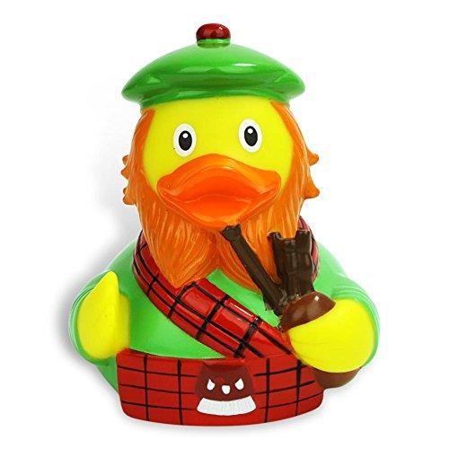 Schottland Badeente I Quietscheente I Duckshop I L: 7,5 cm - inkl. Badeenten-Schlüsselanhänger im Set