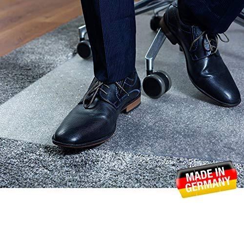 buySMILE ®   Bodenschutzmatte CLEARMAT+ Bürostuhlunterlage transparent   100{81cbbd6d992e18601ae57c21e4f5b9a3d4c2b55359b4681066b66fe0e5e6d597} Polycarbonat wie Makrolonin 5 Größen für Teppichböden, Flokati, Sisal  Made in Germany (91 x 122 cm)