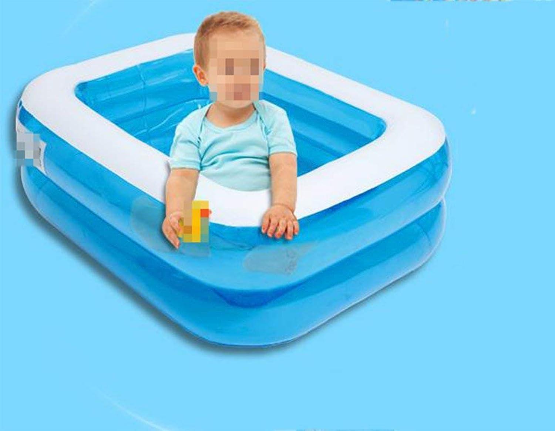 Home practical bathtub Padded inflatable pool inflatable baby bathtub Bathtub (color   Hand Pump)