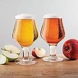 Final Touch Hard Cider Glasses Stemmed Cider Glass Set of 2 475ml GG5018