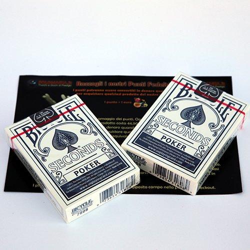 SOLOMAGIA 2 (Due) Mazzi di Carte Bicycle Seconds - Mazzo Regolare Formato Poker - Dorso Blu