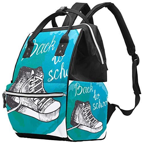 Mochilas Bolsa de pañales Mochila para portátil Mochila Ligera Senderismo Camping Viaje Mochila para Mujeres Zapatos de Regreso a la Escuela